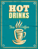 Poster with hot drinks Royalty Free Stock Photo