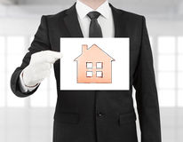 Poster with house Stock Image