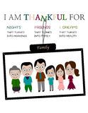 Poster: I am thankful Royalty Free Stock Image
