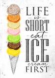 Poster ice cream cone Stock Photos