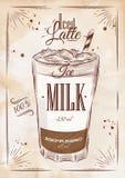 Poster iced latte kraft Stock Photos