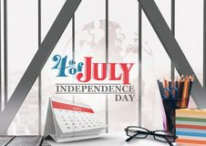 Poster of independence day. Digital composite of Poster of independence day vector illustration