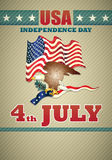 Poster of independence day usa Stock Images