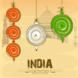 Poster for Indian Independence Day and Republic Day celebration. Stock Images