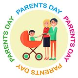 Poster with Inscription Dedicated to Parents Day Stock Photo