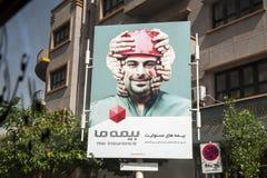 Poster of an insurance company,tehran Iran stock photography