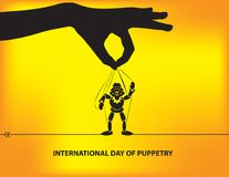 Poster International Day Of Puppetry Royalty Free Stock Photography