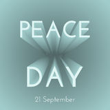 Poster for the International Day of Peace Stock Photos