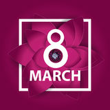 Poster International Happy Women Day 8 March Floral Greeting Stock Photography