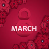 Poster International Happy Women s Day 8 March Floral Greeting c Stock Images