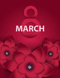Poster International Happy Women s Day 8 March Floral Greeting c Stock Photos