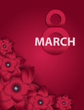 Poster International Happy Women s Day 8 March Floral Greeting c Stock Photo