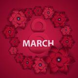 Poster International Happy Women s Day 8 March Floral Greeting c Stock Image