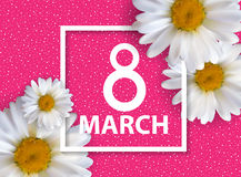 Poster International Happy Women s Day 8 March Floral Greeting c Royalty Free Stock Image