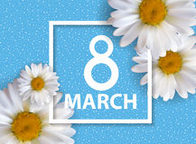 Poster International Happy Women`s Day 8 March Floral Greeting  Stock Photography