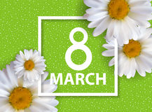 Poster International Happy Women`s Day 8 March Floral Greeting  Royalty Free Stock Photo