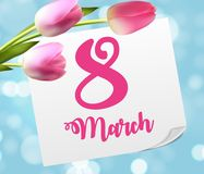 Poster International Happy Women`s Day 8 March Floral. Greeting card Vector Illustration EPS10 Stock Image