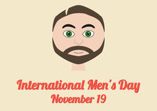 Poster for International Mens Day (November 19) Royalty Free Stock Photos
