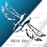 Poster International Migratory Bird Day Stock Image