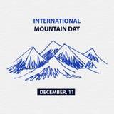 Poster international mountain day. December. Mountains Royalty Free Stock Photo