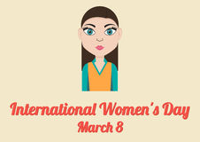 Poster for International Women's Day (March 8) Stock Images