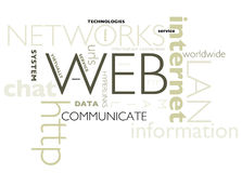 Poster - internet concepts Royalty Free Stock Images
