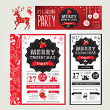 Poster invitation Merry Christmas. Stock Image