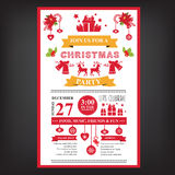 Poster invitation Merry Christmas. Royalty Free Stock Photography