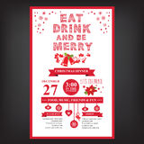 Poster invitation Merry Christmas. Royalty Free Stock Photo