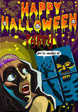 Poster Invite for Halloween Party stock illustration