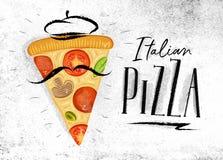 Italian pizza slice Royalty Free Illustration