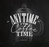 Poster its coffee time Stock Image