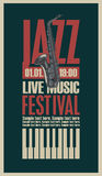 Poster for the jazz festival Stock Photo