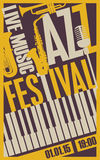 Poster for the jazz festival Royalty Free Stock Photography