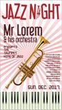 Poster Jazz Festival Trumpet  illustration. Poster Jazz Festival Trumpet Royalty Free Stock Photography