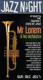 Poster Jazz Festival Trumpet  illustration. Poster Jazz Festival Trumpet Royalty Free Stock Images