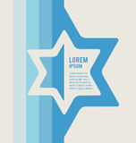 Poster of jewish sign of david star with place for. Text. illustration stock illustration