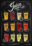 Poster juice menu chalk Stock Images
