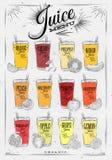 Poster juice menu Royalty Free Stock Image