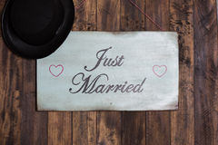 Poster Just Married Stock Image