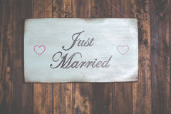 Poster Just Married Stock Photos