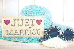 Poster Just Married Stock Photography