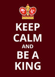 Poster Keep Calm Stock Photography