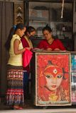 Poster of the Kumari of Kathmandu, Nepal Royalty Free Stock Photos