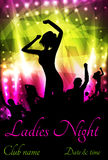 Poster for ladies night party Stock Images