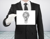 Poster with lamp Royalty Free Stock Image