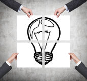 Poster with lamp Stock Photography