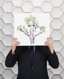 Poster with lamp tree Royalty Free Stock Images