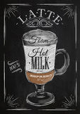 Poster latte chalk Royalty Free Stock Photo