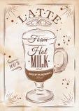 Poster latte kraft Stock Photo